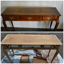 painted console table. Furniture Stripping And Preparation To Paint Painted Console Table
