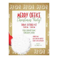 office party flyer christmas office party invitation santa flyer zazzle com