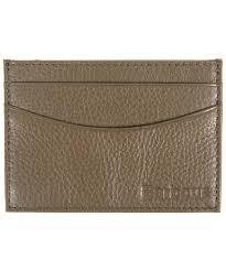 men s barbour milled leather card holder olive