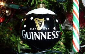 Guinness Guinness Christmas pint mistletoe ornament from Source  The 12  Irish gifts of Christmas For the Guinness in your life IrishCentral com