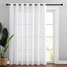 nicetown linen like patio door curtains