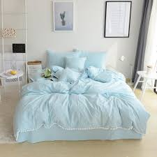cotton white ball korean style bedding
