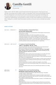 Visual Merchandiser ( Fashion Retail Store) Resume samples