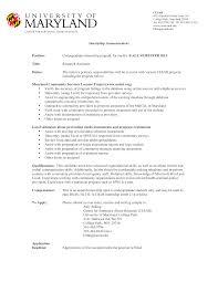Resume Undergraduate Research Resume