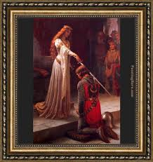edmund blair leighton the accolade framed painting