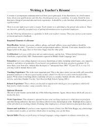 Resume Writing For Teaching Jobs Sidemcicek Com How To Teach