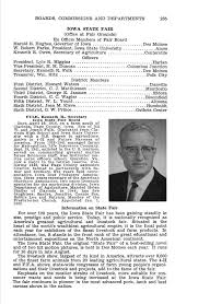 BOARDS, COMMISSIONS AND DEPARTMENTS 235 IOWA STATE FAIR (Office at Fair  Grounds) Ex Officio Members of Fair Board Harold E. Hugh