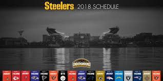 2018 pittsburgh steelers schedule