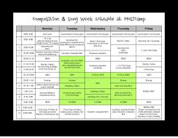 Summer Camp Daily Schedule Template Summer Camp Schedule Template Blank Holidays Calendar Template