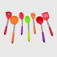 high quality 7pcs pp stainless steel handle silicone kitchen tools silicone kitchen utensil