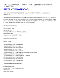 calaméo 1997 2003 honda vt1100c vt1100t service repair manual calaméo 1997 2003 honda vt1100c vt1100t service repair manual