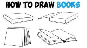 book drawing how to draw books in 4 diffe angles perspectives open closed etc how to book drawing