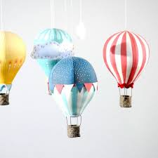 hot air balloon mobile epattern pdf by craftschmaft on