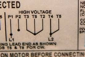 should you change your motor from 120v to 240v the directions are usually printed inside the housing or right on the motor plate here s the part of the wiring diagram from another motor