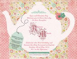 Kitchen Tea Invites Doc Free Tea Party Invitation Template Free Printable Tea