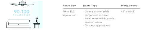 ceiling fan height measurements size for bedroom guidelines from floor code