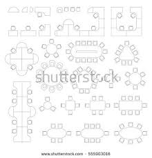 office furniture plans. Office Furniture Line Symbols For Architectural Plans. Set With  Workplace And Meeting Tables Office Plans L