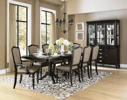 Pedestal Dining Table Set Homelegance Marston Double Pedestal Dining Table In Dark Espresso