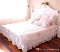 ruffled comforter sets ruffle quilt set pink ruffle princess cotton duvet cover wedding bedding set queen