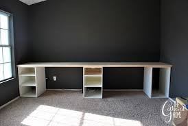 building office desk. How To Make DIY Ikea Hack Desk With Plank Top - File Cabinets Instead Would Do Building Office P
