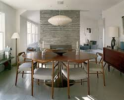 image of simple mid century modern fireplace style