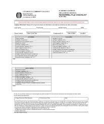 Employee File Checklist 003 Employee Personnel File Checklist Format Template Ideas