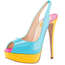 light blue patent leather slingback pumps p toe sti heel pumps image 1