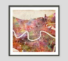 new orleans map wall art