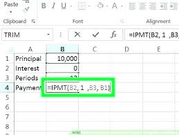 Loan Interest Excel Monthly Payment Principal And Calculator