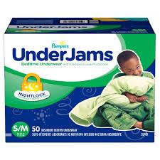 Underjams Size Chart Pampers Underjams Bedtime Underwear Boys Size S M 50 Count