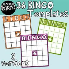 Bingo Board Templates Bright Shiny Clipart Bundle