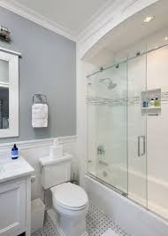 transitional bathroom by bluewater home builders