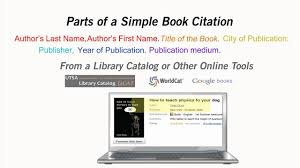How To Cite A Book