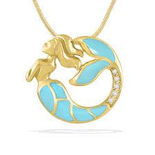 41464 0 jpg 14k yellow gold mermaid pendant