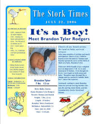 Baby Newspaper Unique Birth Announcements