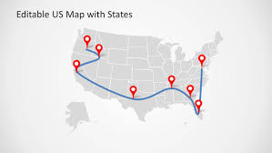 Us Map Editable Editable Us Map Template For Powerpoint With States Slidemodel