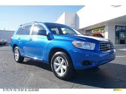 2008 Toyota Highlander in Blue Streak Metallic - 016871 | VANnSUV ...