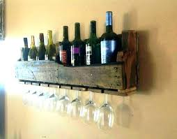 wine glass rack pottery barn.  Pottery Pottery Barn Floating Wine Shelves Rack Wall  Wood Wi On Glass Throughout C