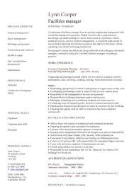Facilities Manager Cv Sample Ultimately Delivering Reliable Safe