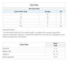 Calvin Klein Sports Bra Size Chart Calvin Klein Perfectly Fit Convertible Wireless Bra F2781