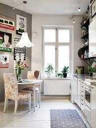 Kitchen:Scandinavian Vintage Kitchen Design In Small Apartment Idea Ideas  For Vintage Kitchen Design Inspiration