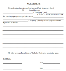 Simple Sales Agreement Simple Sales Agreement Template Sample Sales