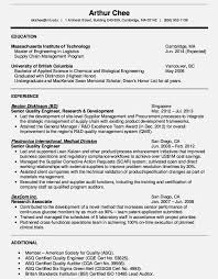 quality engineer resume sample resume template