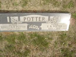 Rebecca Priscilla Corum Potter (1851-1930) - Find A Grave Memorial
