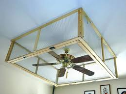flush mount enclosed ceiling fan. Enclosed Ceiling Fan With Light Guards Industrial Cage . Flush Mount S