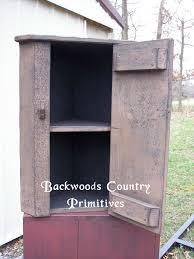 Corner Hanging Cabinet Backwoods Country Primitives Furniture Goods Small Hanging