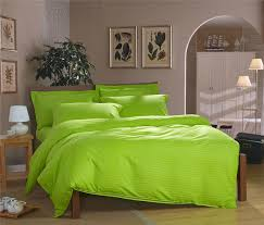 100 cotton apple green bright color bedding set twin single bed double queen size light
