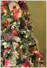 christmas trees decorated with burlap ribbon. How To Decorate Christmas Tree With Only Ribbon And Greenery Decorations Crafts Trees Decorated Burlap