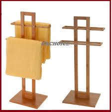 bathroom bamboo wooden wood 2 tier towel rack rail holder wood towel stand13 wood