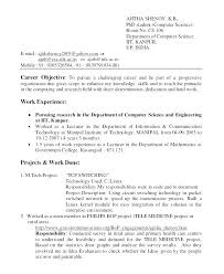 Sample Law Student Resume India